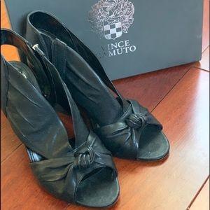 Vince Camuto Kerra Knot-vamp Block Heel Sandal sz9